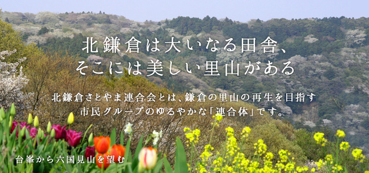北鎌倉は大いなる田舎、そこには美しい里山がある 北鎌倉さとやま連合会とは、鎌倉の里山の再生を目指す市民グループのゆるやかな「連合体」です。